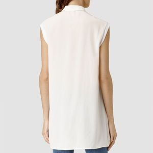 All Saints Vice High-Low Blouse
